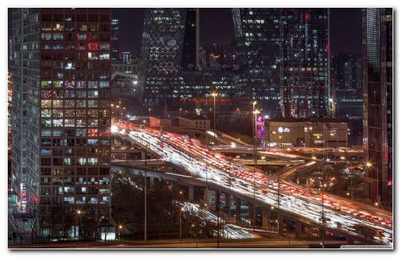 Image urban area beijing night building horizon