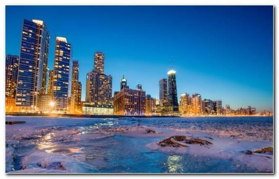 Image Urban Area Cityscape Skyline Chicago Metropolis