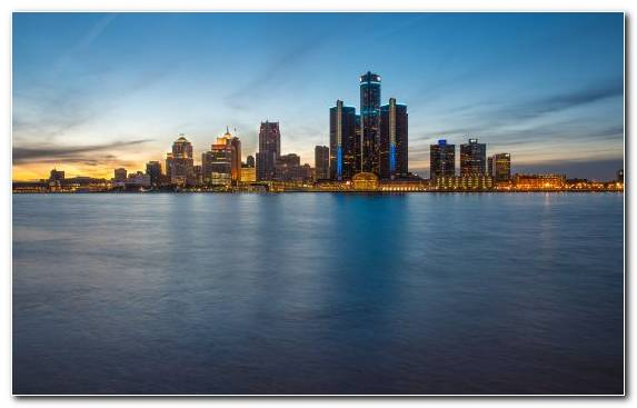 Image Urban Area Detroit Metropolis Skyline Capital City