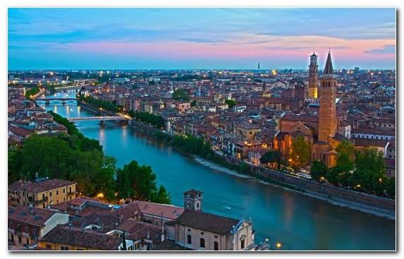 Image urban area horizon Verona landmark cityscape