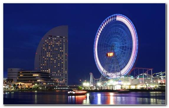 Image Urban Area Landmark Capital City Night Ferris Wheel