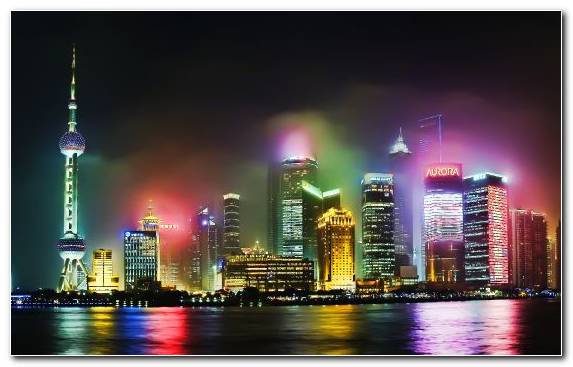Image Urban Area Landmark Cityscape Pudong Skyline Reflection