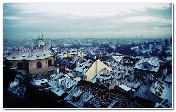 Image Urban Area Praha Building Town Winter