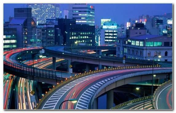 Image Urban Area Road Cityscape Night Skyscraper