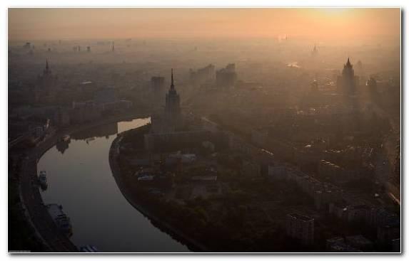 Image Urban Area Sky Cityscape Horizon Mist