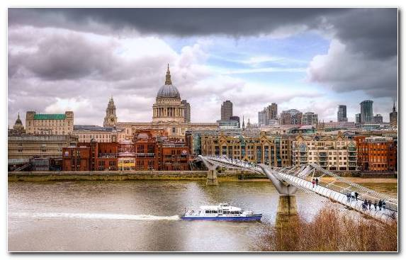 Image urban area skyline St Pauls Cathedral cityscape city