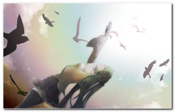 Image Visual Arts Creative Arts Sky Hatsune Miku Anime