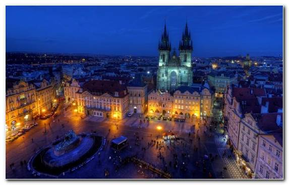Image Vltava Nightscape Capital City Landmark Charles Bridge
