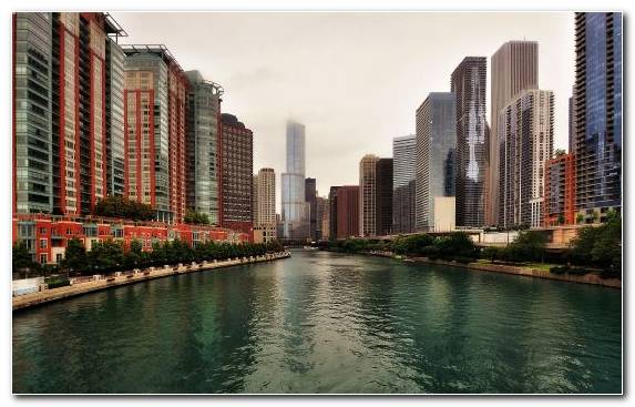 Image water cityscape city waterway chicago
