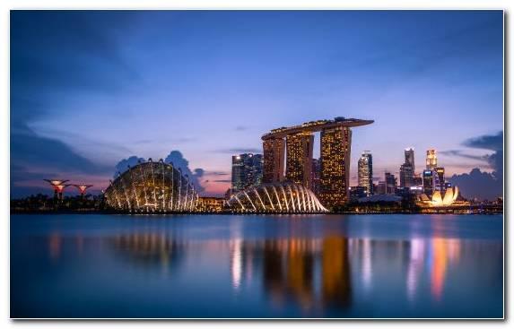 Image water dusk metropolis cityscape sky