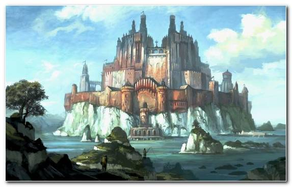 Image Water Feature Cathedral Painting Tourist Attraction Castle