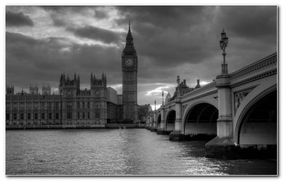 Image Water House Cityscape City Black And White