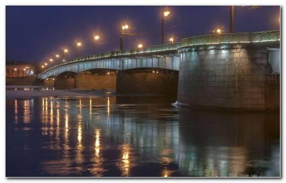 Image water river bridge reflection street light