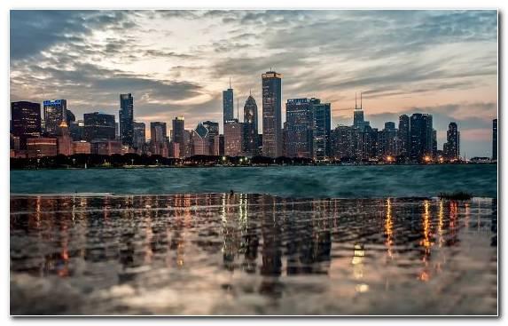 Image Water Skyline City Cityscape Sky
