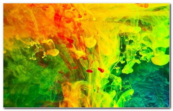 Image Watercolor Paint Acrylic Paint Colored Smoke Yellow Painting