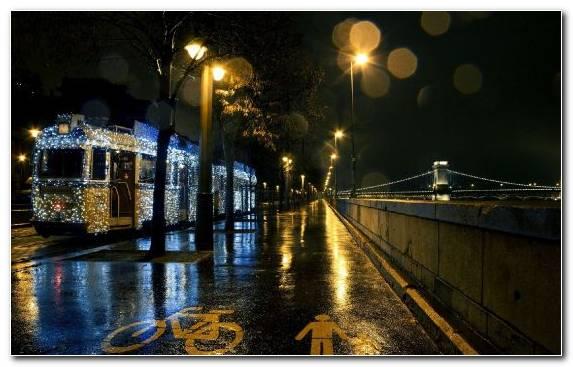 Image Waterway Christmas Day Night City Town