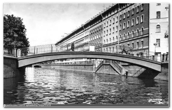 Image Waterway Concrete Monochrome Mode Arch Bridge Water