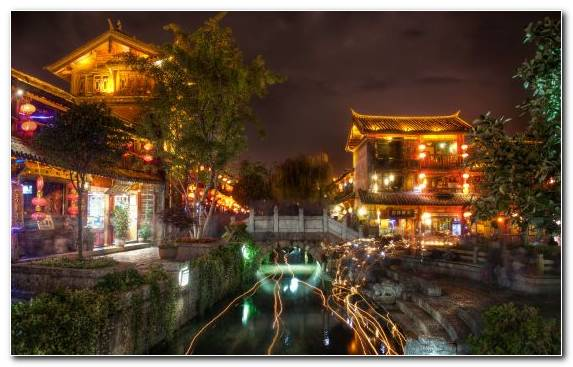 Image Waterway Night City Evening Tourist Attraction