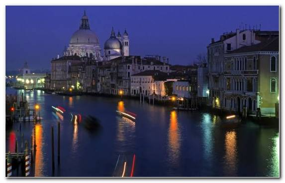 Image Waterway Piazza San Marco Tourist Attraction Night Canal