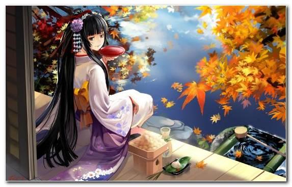 Image Woman Autumn Mangaka Geisha Byakuya Kuchiki