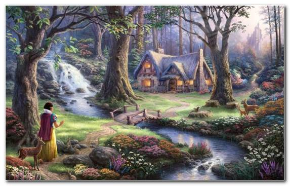 Image Woodland Disney Princess Creative Arts Jigsaw Puzzles Watercourse