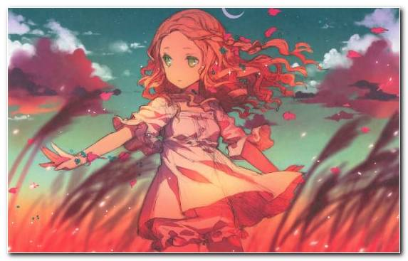 Image Wool Anime Red Girl Eye
