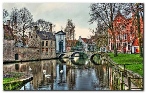 Image World Town Neighbourhood Bruges City