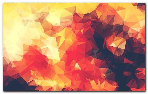 Image yellow Low poly symmetry work of art red
