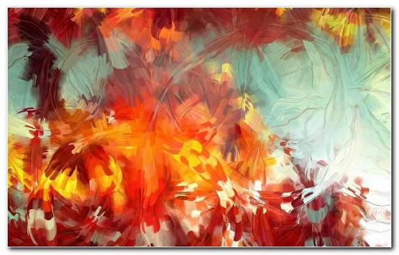Image Yellow Modern Art Autumn Acrylic Paint Red