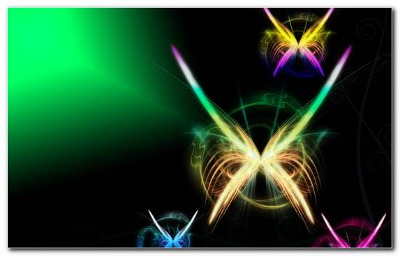 Image Yellow Neon Rainbow Wing Light