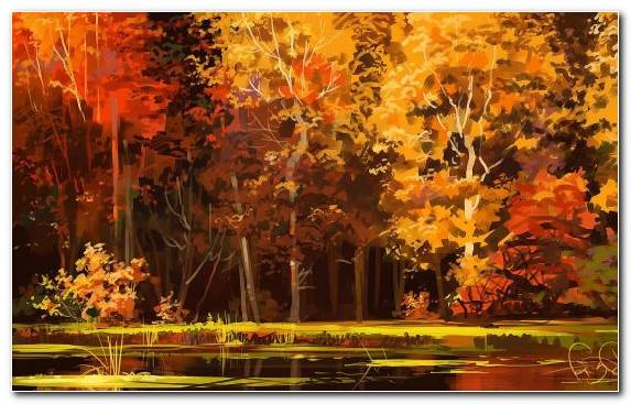 Image Yellow Painting Landscape Painting Creative Arts Bayou