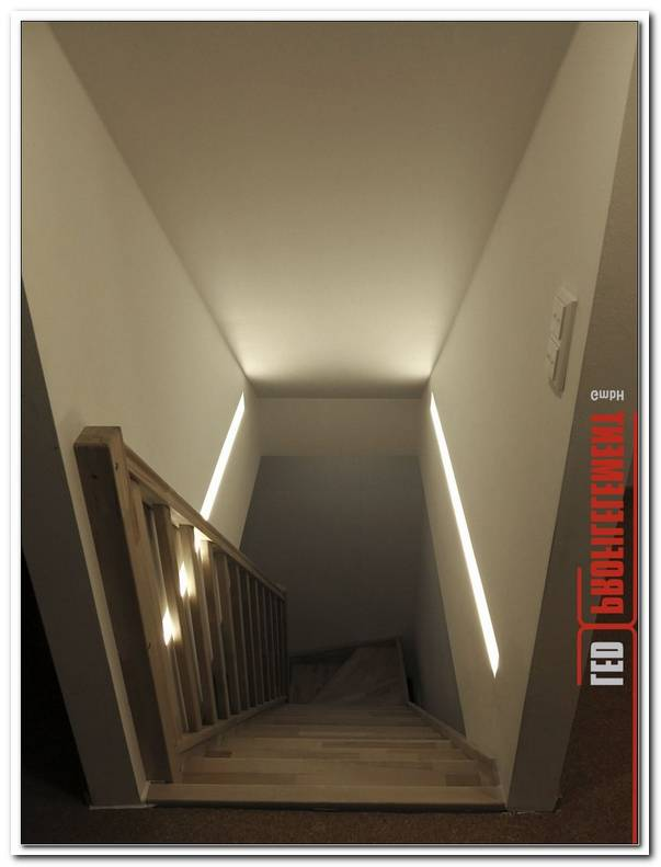 Indirekte Beleuchtung Treppenhaus