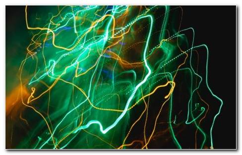 Intermittent Green And Golden Shocks