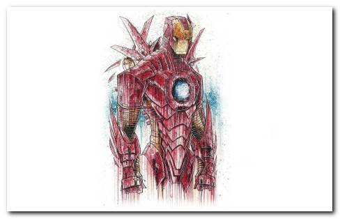 Iron Man Digital Art Wallpaper
