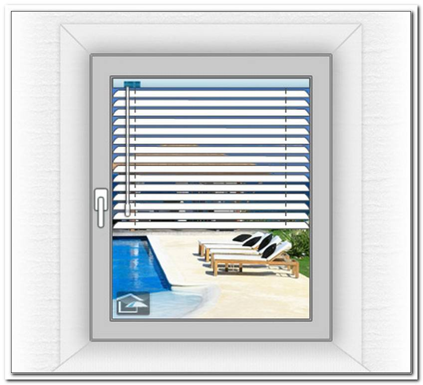 Jalousien Im Fensterrahmen