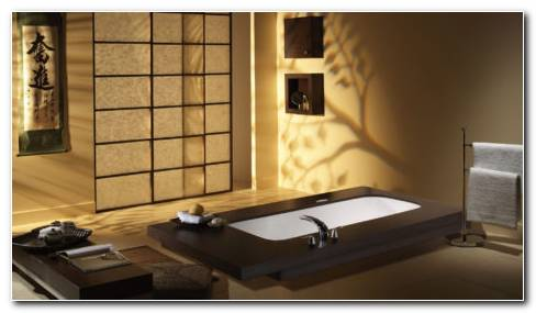 Japanese Bathroom Interior HD Wallpaper