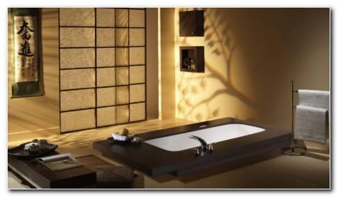 Japanese Bathroom Interior HD Wallpaper