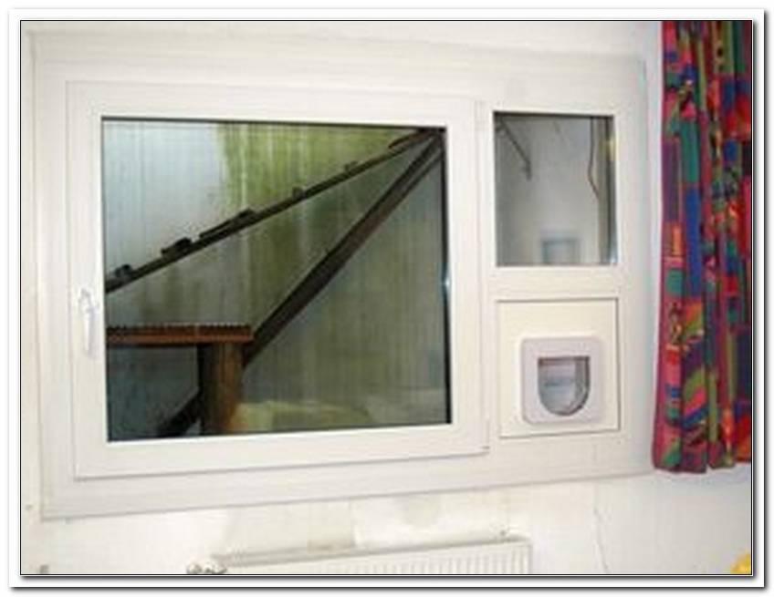 Katzenklappe Fenster Dreifachverglasung