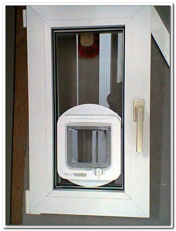 Katzenklappe In Fenster Einsetzen