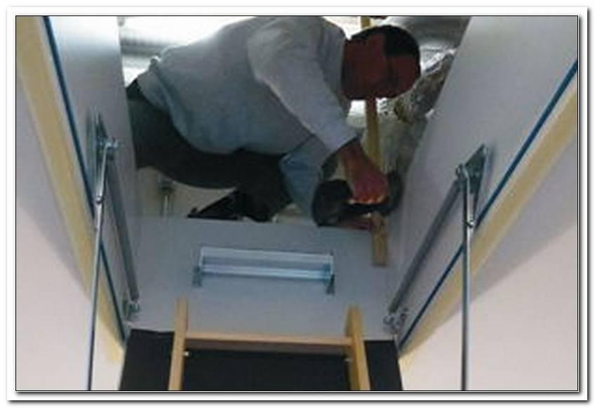 Klapptreppe Dachboden Einbauen