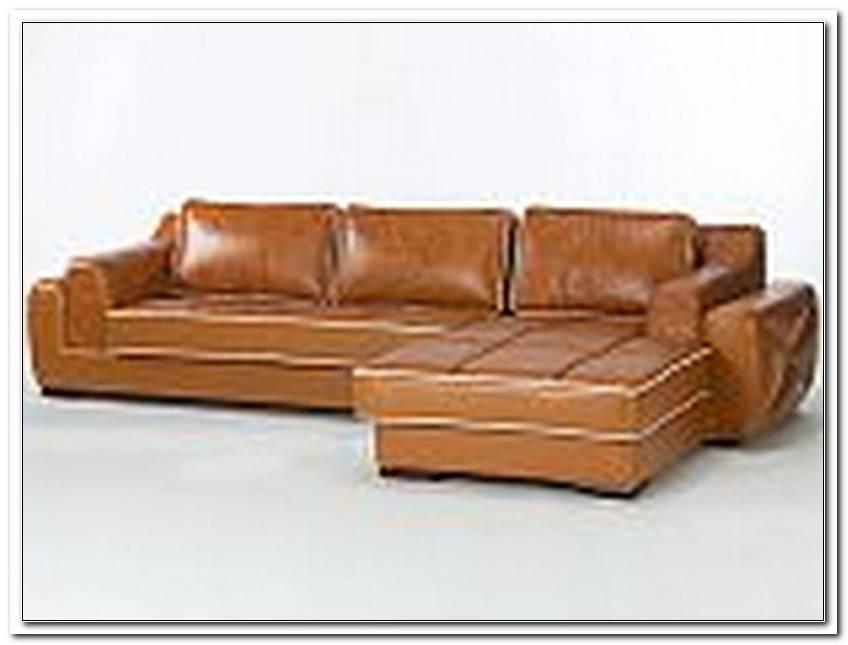L Sofa Leder Braun