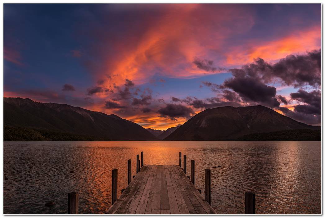 Lake Sunset Wallpaper Hd