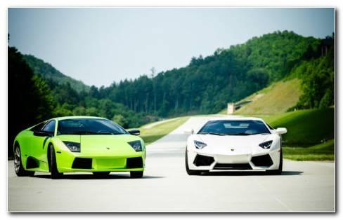 Lamborghini Aventador & Murcielago HD Wallpaper