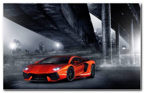 Lamborghini Orange HD Wallpaper