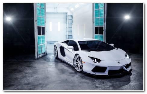 Lamborghini Front View HD Wallpaper
