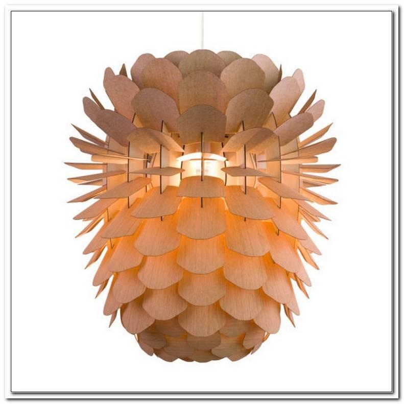 Lampe Artischocke Holz
