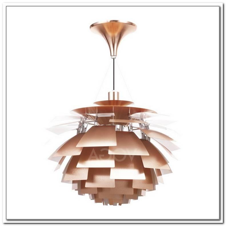 Lampe Artischocke Kupfer