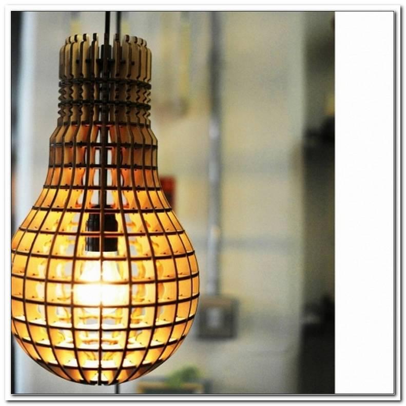 Lampe Gl?Hbirne Holz