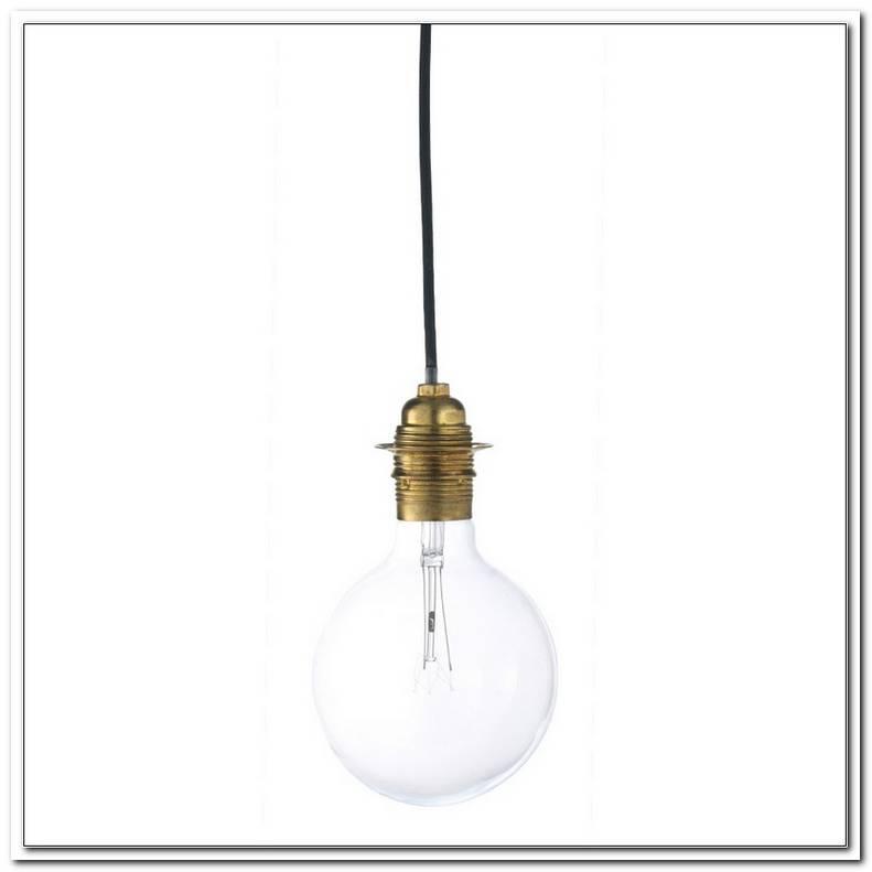 Lampe Gl?Hbirne Mit Buntem Kabel
