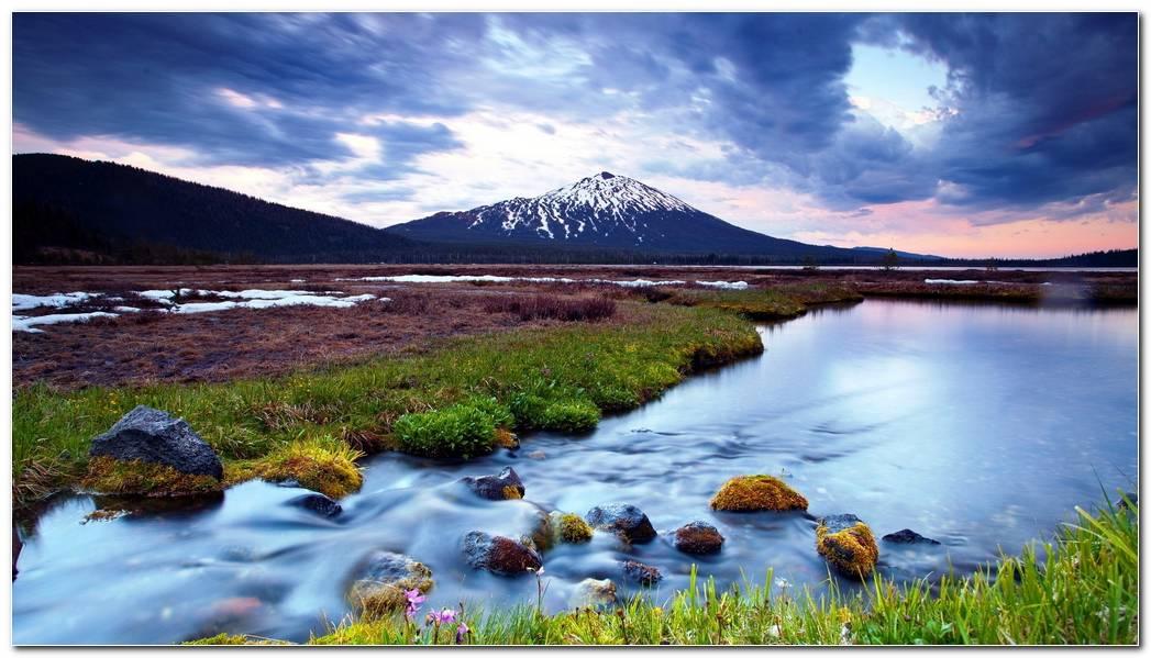Landscape Mountain Nature Wallpaper Background